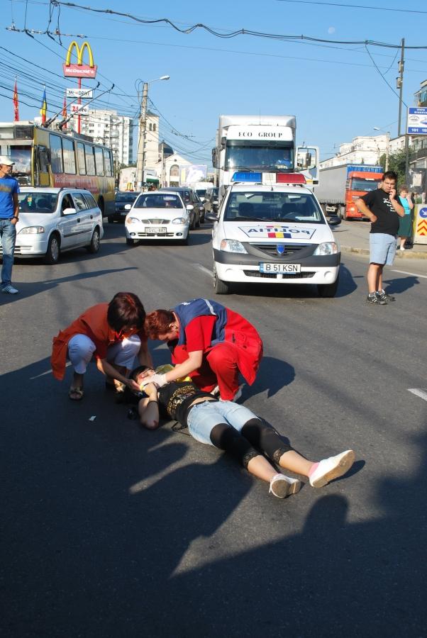 Pieton rănit pe strada Traian Vuia