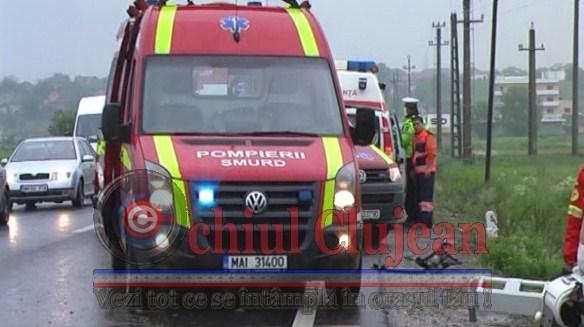 Accident rutier grav în localitatea clujeană Fodora cu patru victime
