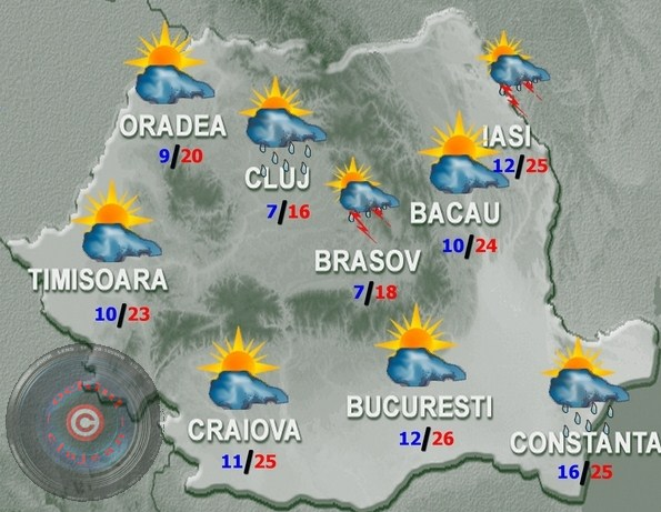 PROGNOZA METEO:Cum va fi vremea in weekend