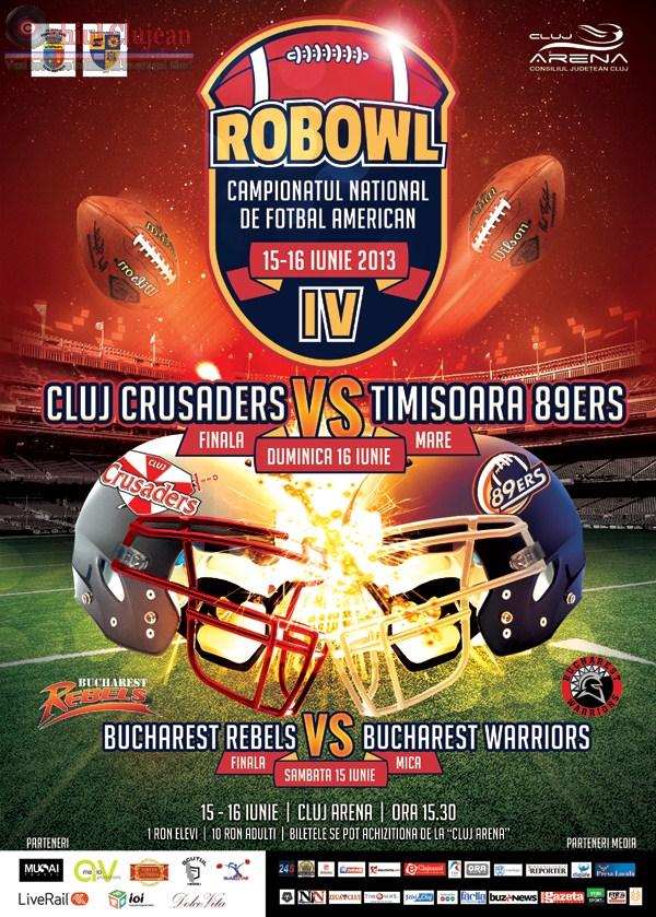 Finalele ROBOWL IV! Un weekend de fotbal american pe Cluj Arena