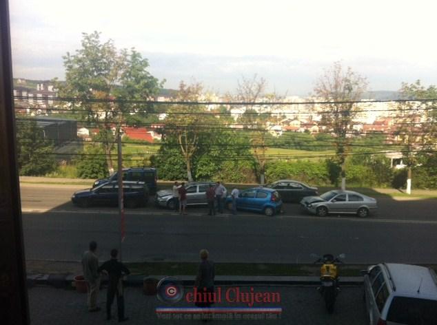 Accident pe varianta Zorilor-Manastur! Patru masini s-au ciocnit FOTO