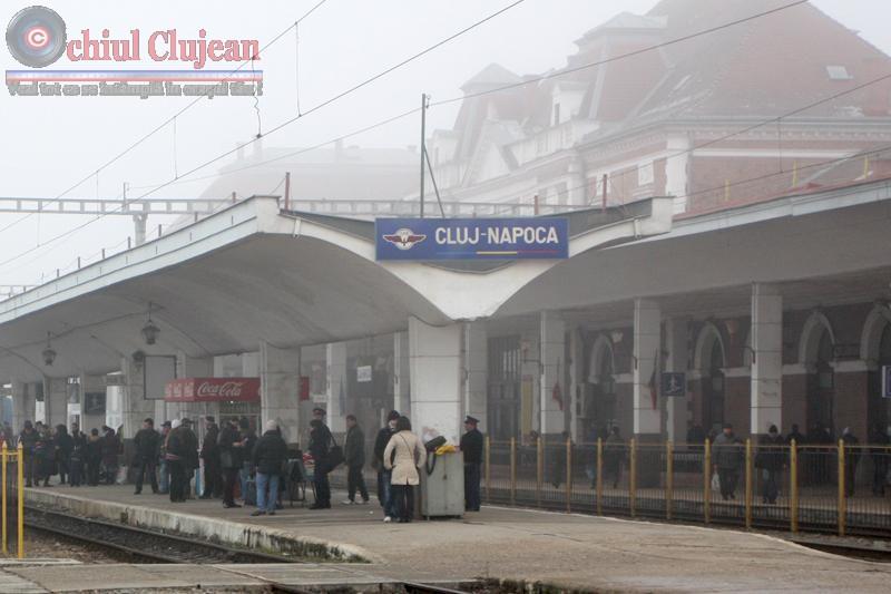 Focuri de armă la Gara Cluj! Un bărbat a fost urmarit de politisti