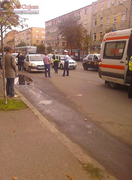 Accident in Apahida! Sofer prins de politisti dupa ce accidentat un minor si a fugit de la locul accidentului