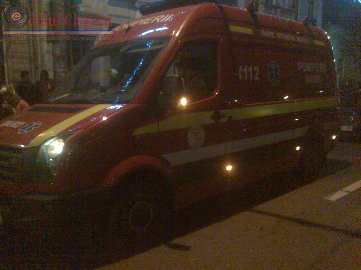 Accident la Jucu! Pieton lovit in plin de o masina in timp ce traversa drumul national prin loc nepermis