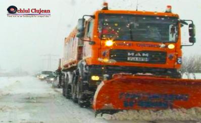 Circulație îngreunată pe drumurile din județul Cluj