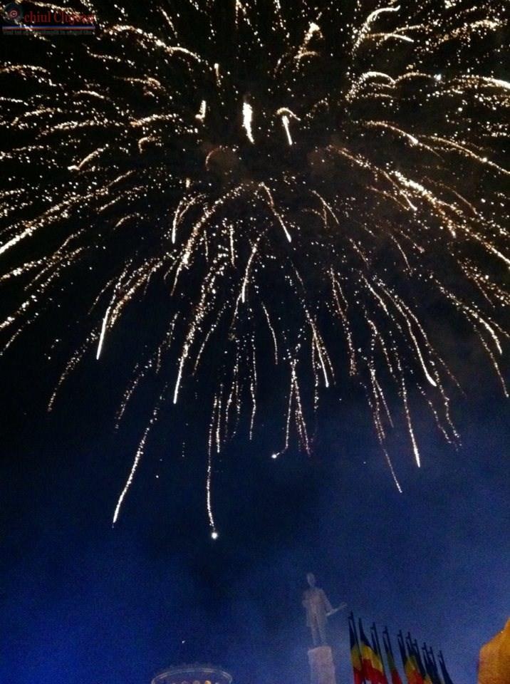 Spectaculos foc de artificii la Cluj. Mii de persoane s-au bucurat de eveniment VIDEO