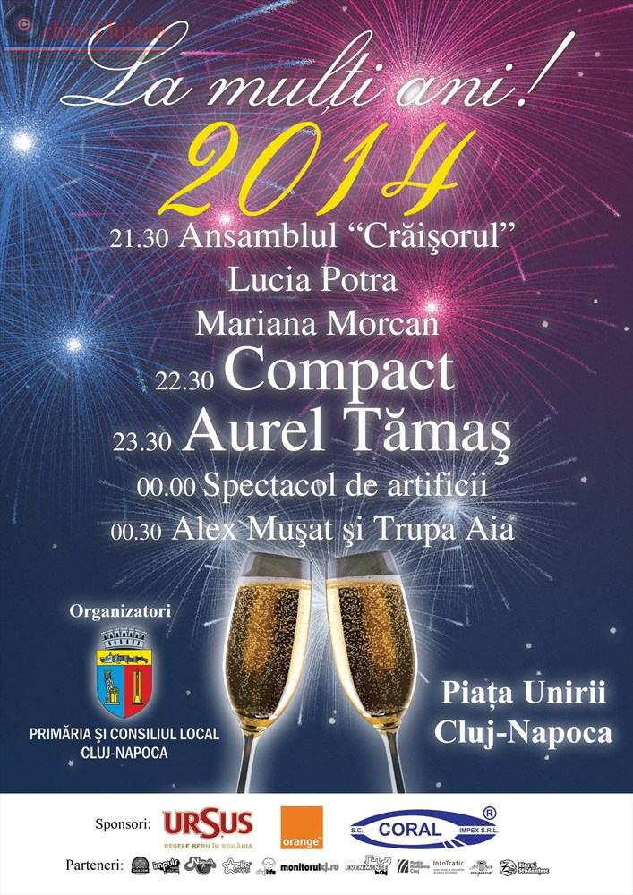REVELION 2014 in Piata Unirii! Spectacol si focuri de artificii