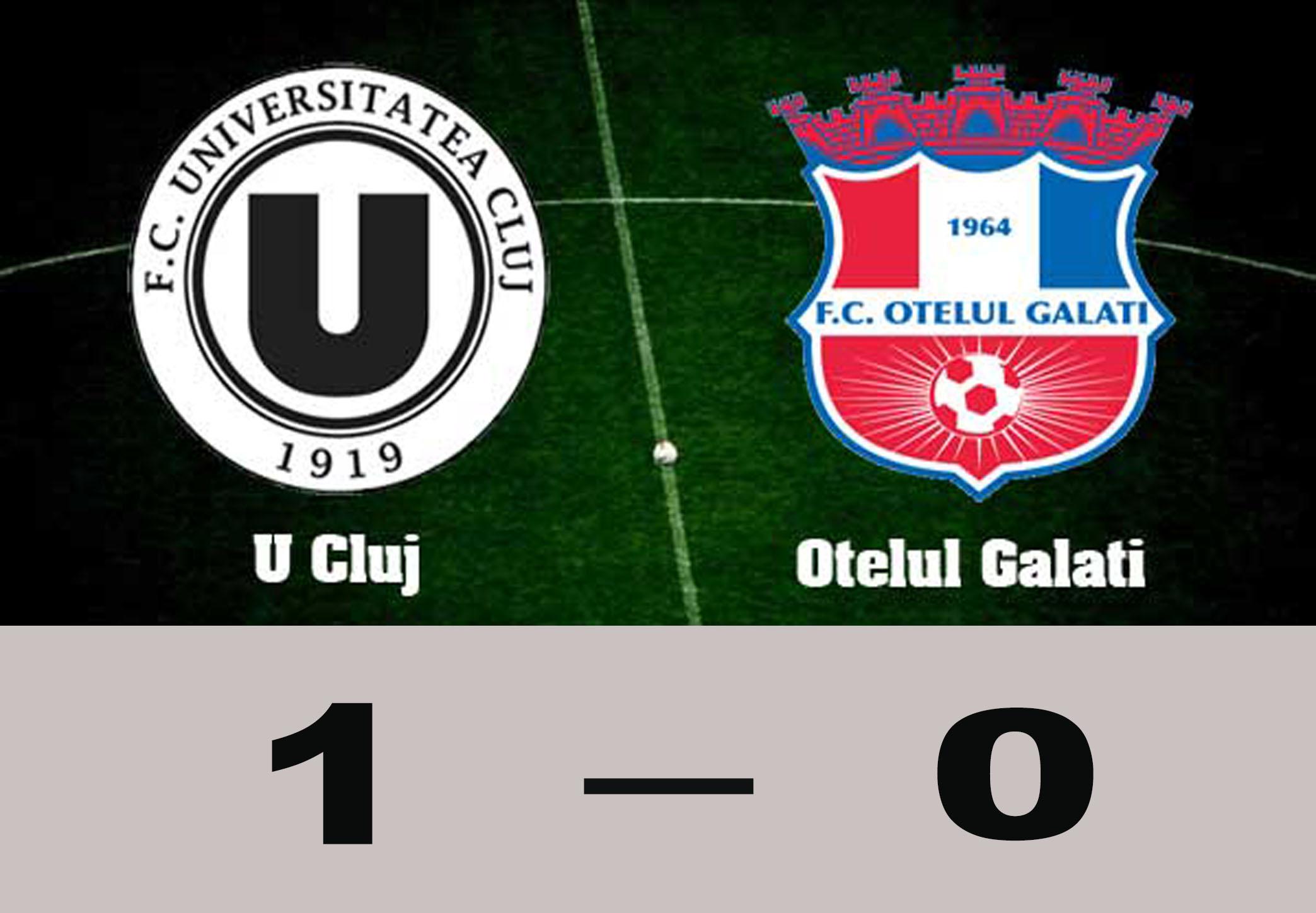 """""""U"""" Cluj – Oțelul Galați 1-0. Lemnaru a marcat după un henț clar"""