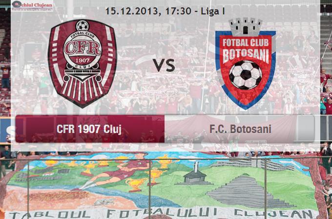 CFR-ul, joacă azi pe teren propriu cu FC Botoșani