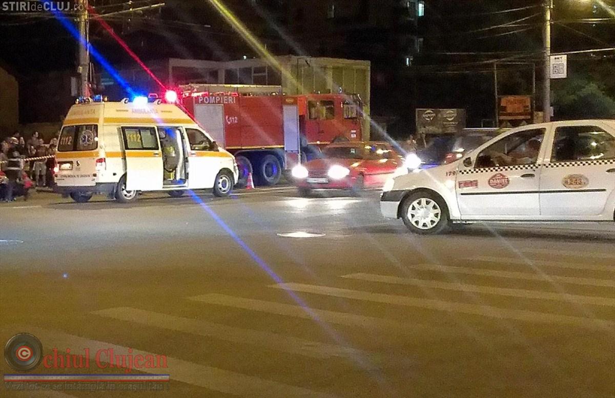 Accident in Gheorgheni! Impact intre doua autoturisme pe strada Teodor Mihali FOTO