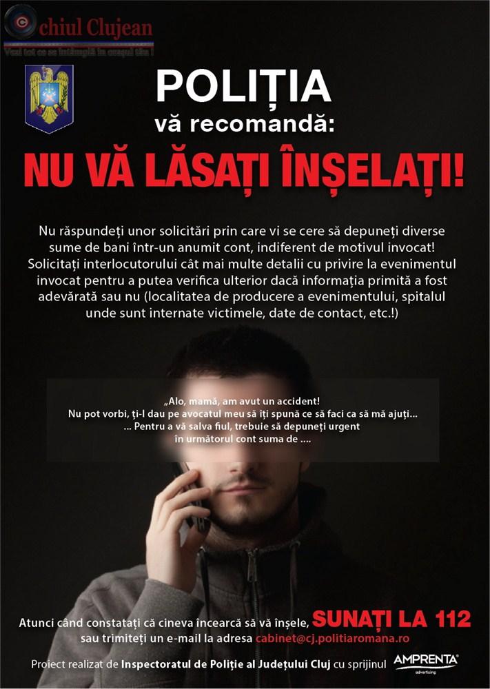 """Metoda """"Accidentul"""" a mai făcut o victimă la Cluj! Un bătrân de 70 de ani a fost mai ager de minte"""