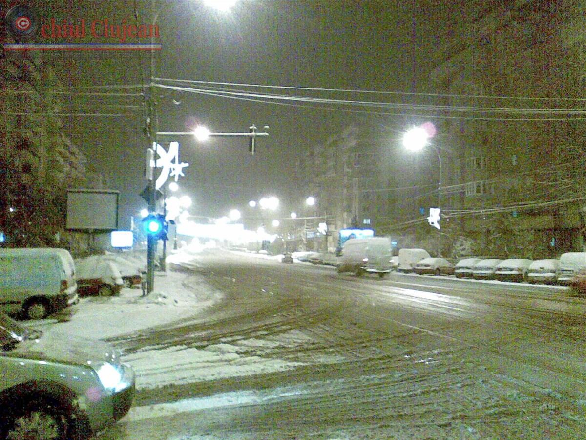 Prima ninsoare la Cluj! Vezi starea drumurilor