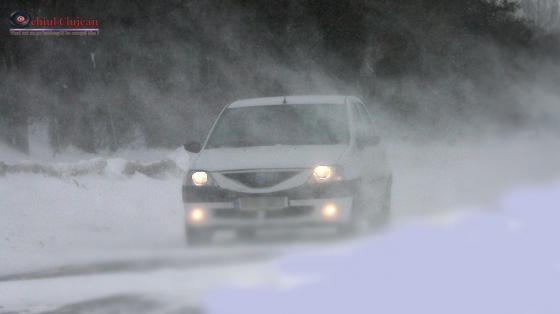 Recomandări ale poliţiştilor clujeni adresate participanţilor la trafic pe timp de iarnă