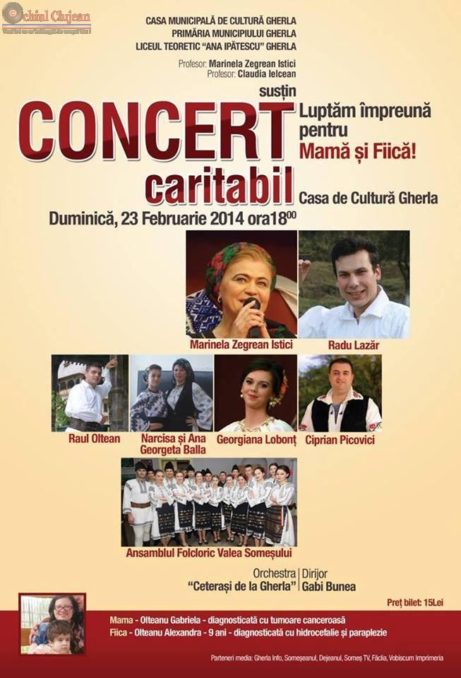 Concert caritabil pentru mama si fiica la Gherla