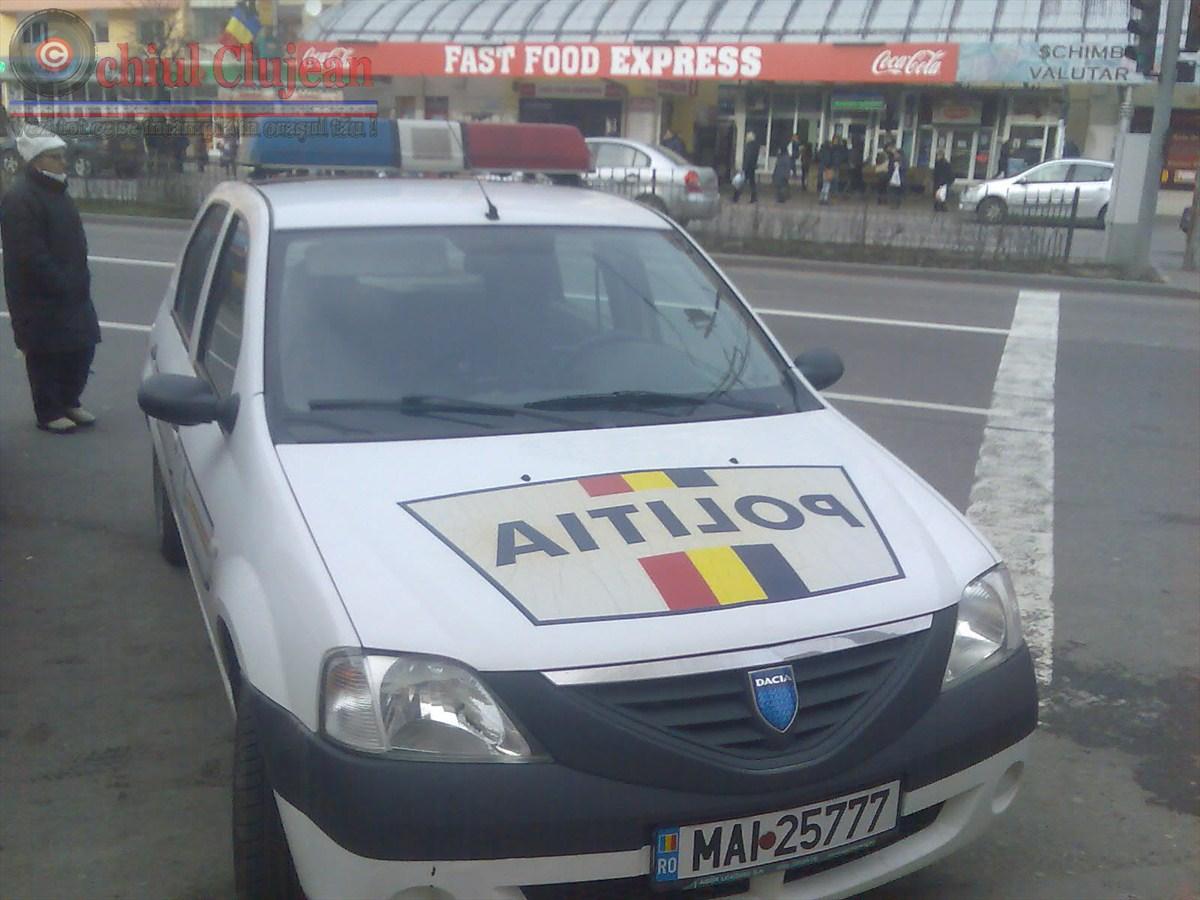 Cluj: Depistată în trafic la volanul unui autoturism cu număr fals de înmatriculare și neînmatriculat