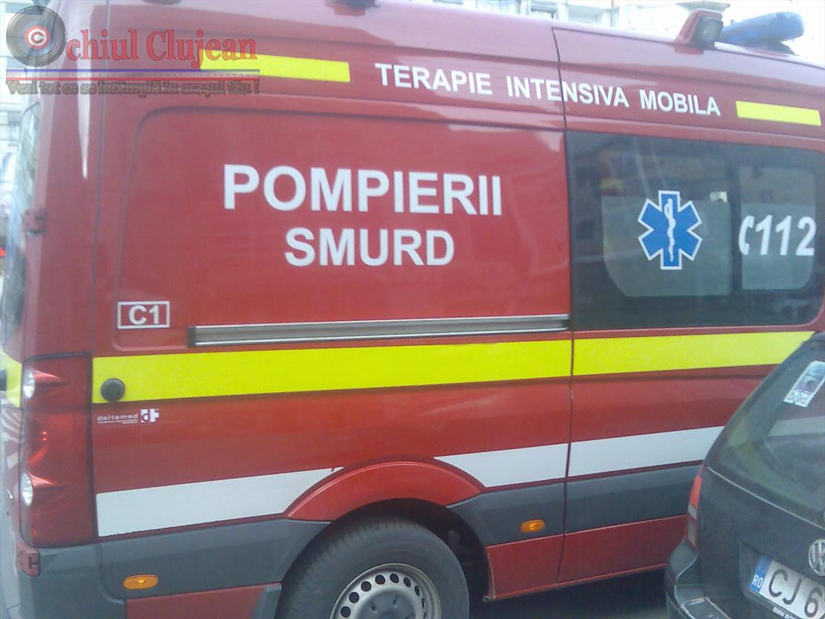 Accident grav pe varianta Zorilor-Manastur! Impact intre doua autoturisme. Doua persoane au fost ranite VIDEO