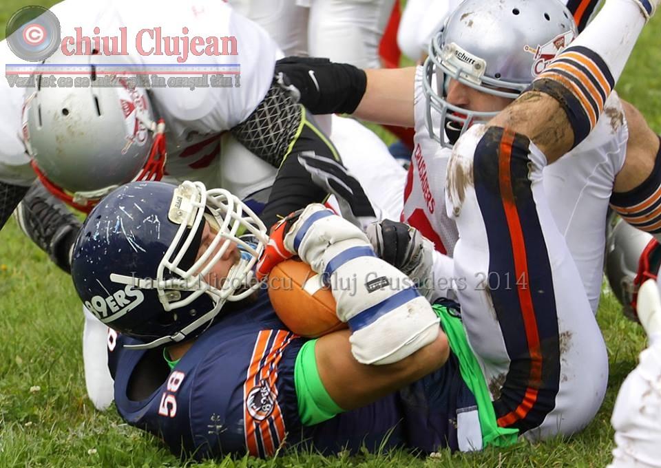 Fotbal American: Cluj Crusaders a pierdut la Timisoara FOTO