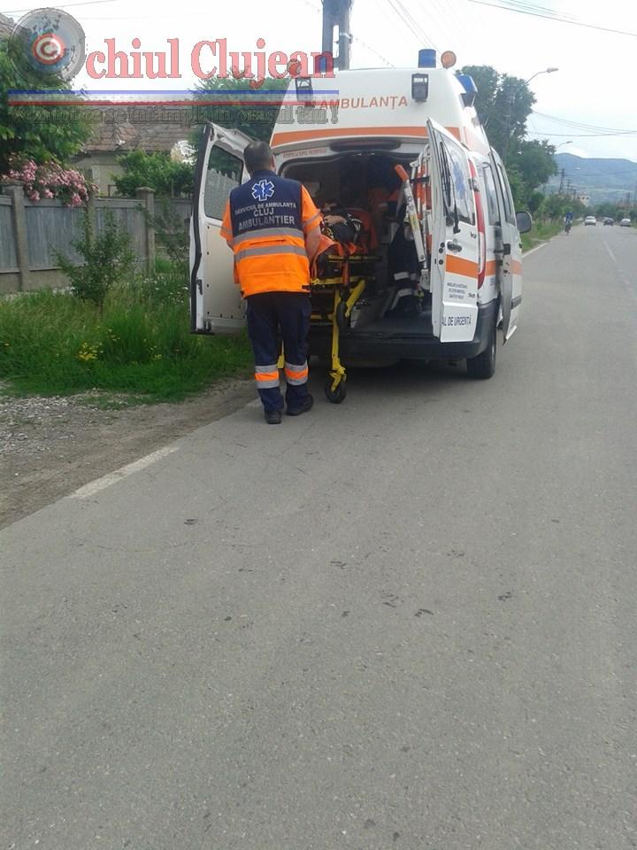 Femeie spulberată de o mașină la Cluj. Victima a traversat neregulamentar