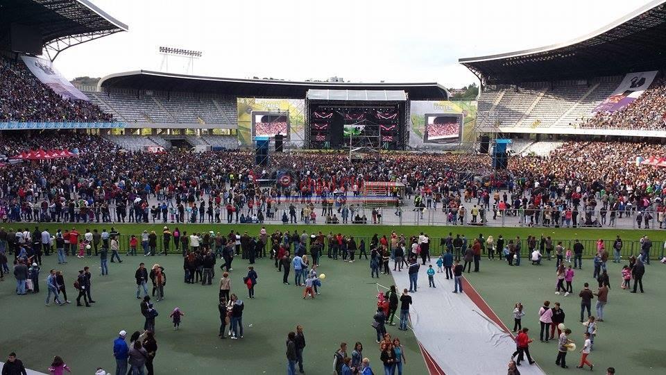 Cel mai mare concert din Romania: FORTA ZU pe Cluj Arena GALERIE FOTO