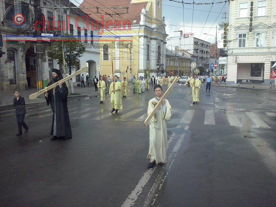 Procesiunea de Rusalii la Cluj-Napoca FOTO