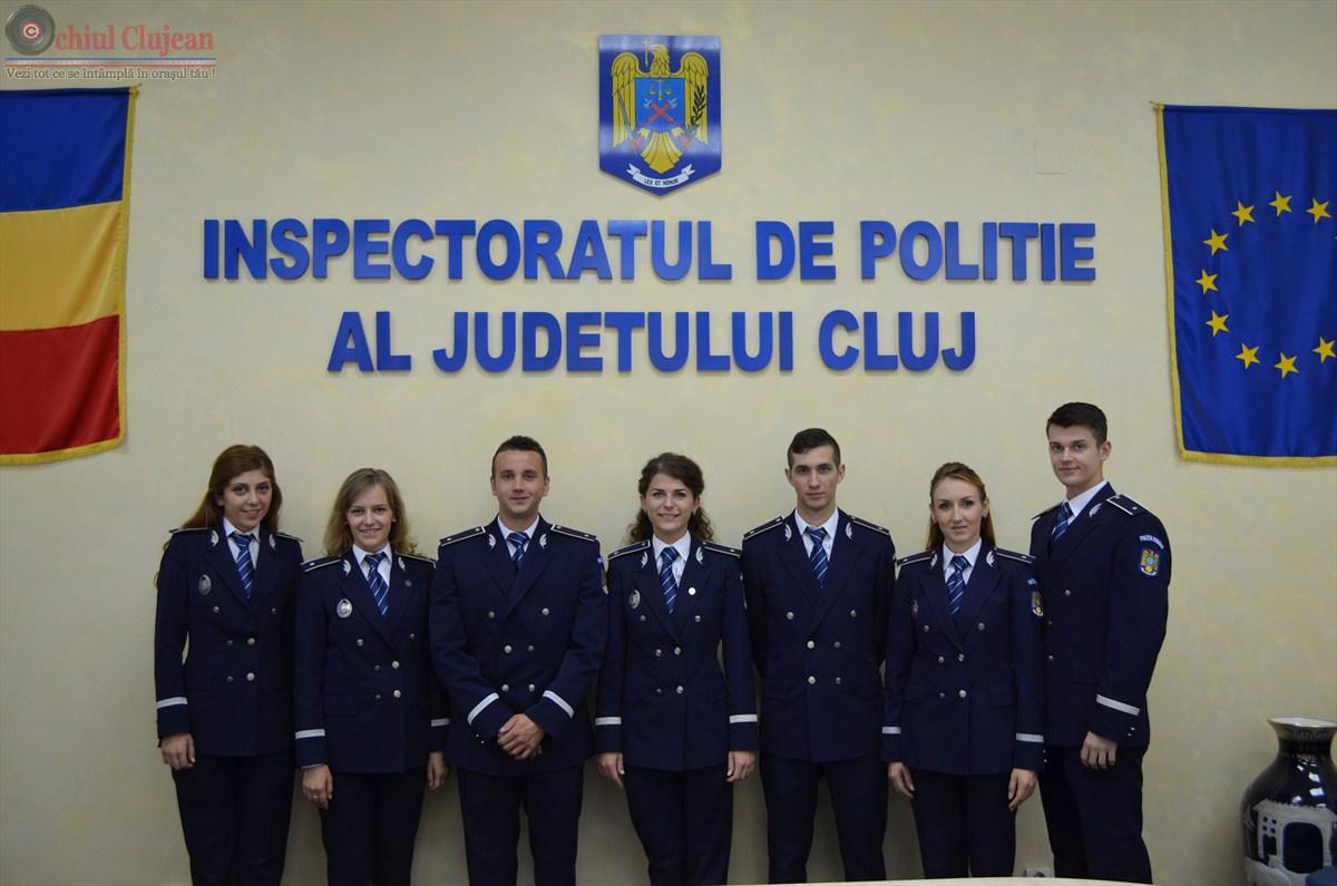 Inspectoratul de Politie Judetean Cluj are din aceasta saptamana sapte noi ofiteri FOTO