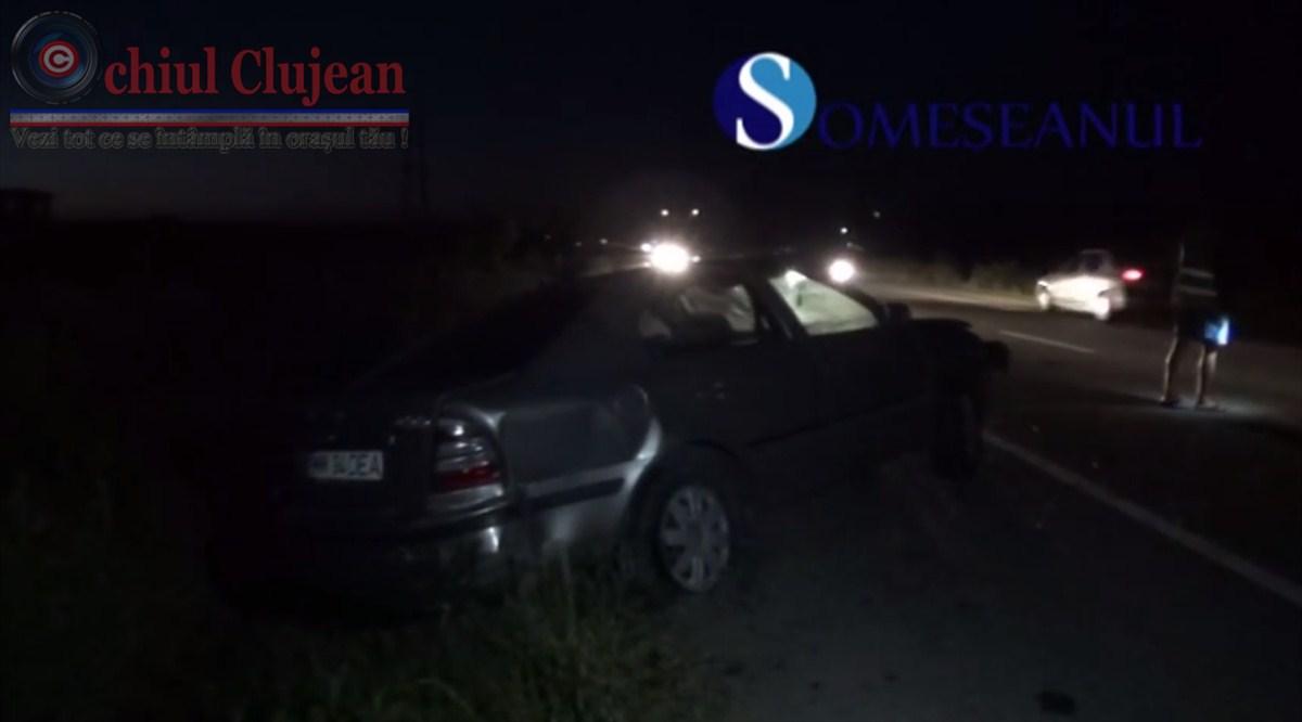 Accident la Bontida! Doua autoturisme implicate VIDEO