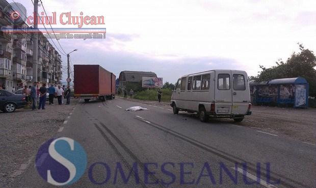 Accident mortal in Dej! O femeie a murit FOTO