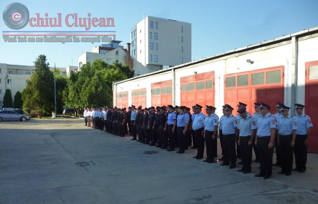 ISU Cluj: 53 de pompieri au fost avansati la termen FOTO