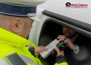 Sofer rupt de beat la volan prins de politistii clujeni. Avea o alcoolemie RECORD