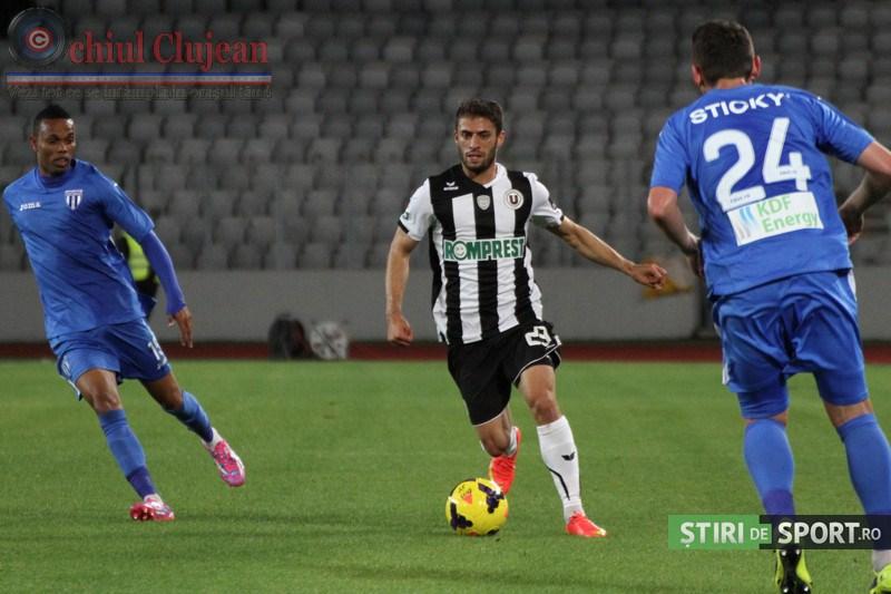 Fotbal: Universitatea Cluj- CSU Craiova 0-2 VIDEO