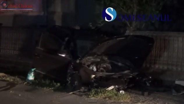 Un barbat a murit iar alti doi au fost grav raniti pe o sosea din Cluj VIDEO