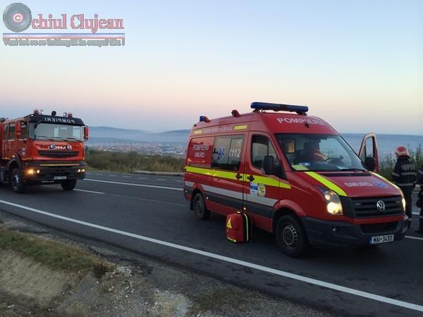 Accident pe centura ocolitoare a Clujului produs un șofer beat. Două mașini și un autocar implicate