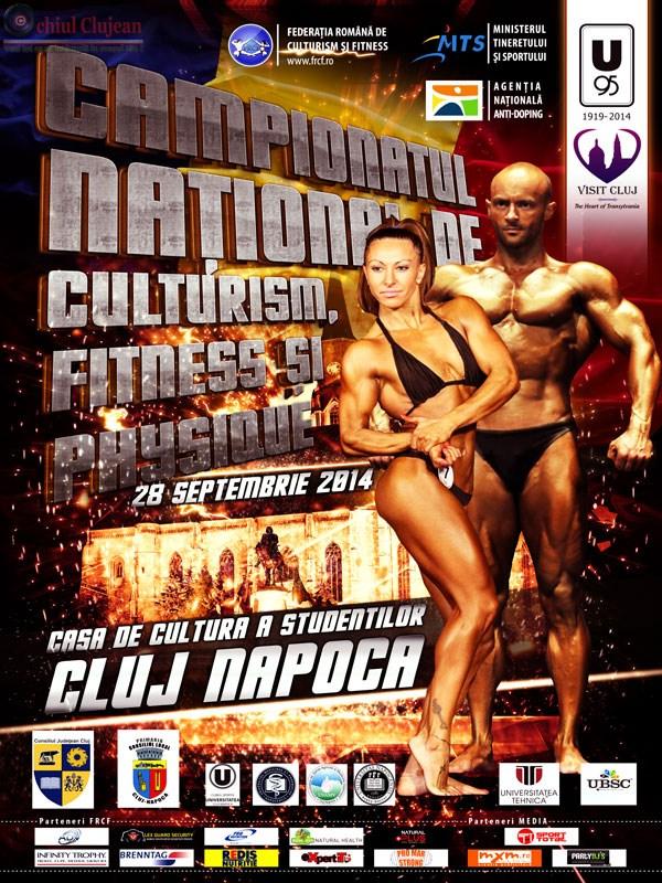 Campionatele Nationale de Culturism si Fitness se vor desfasura duminica, la Casa de Cultura a Studentilor din Cluj-Napoca