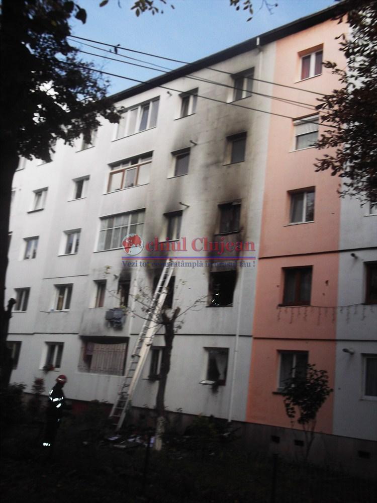 Incendiu in Manastur! Un apartament a fost cuprins de flacari FOTO-VIDEO