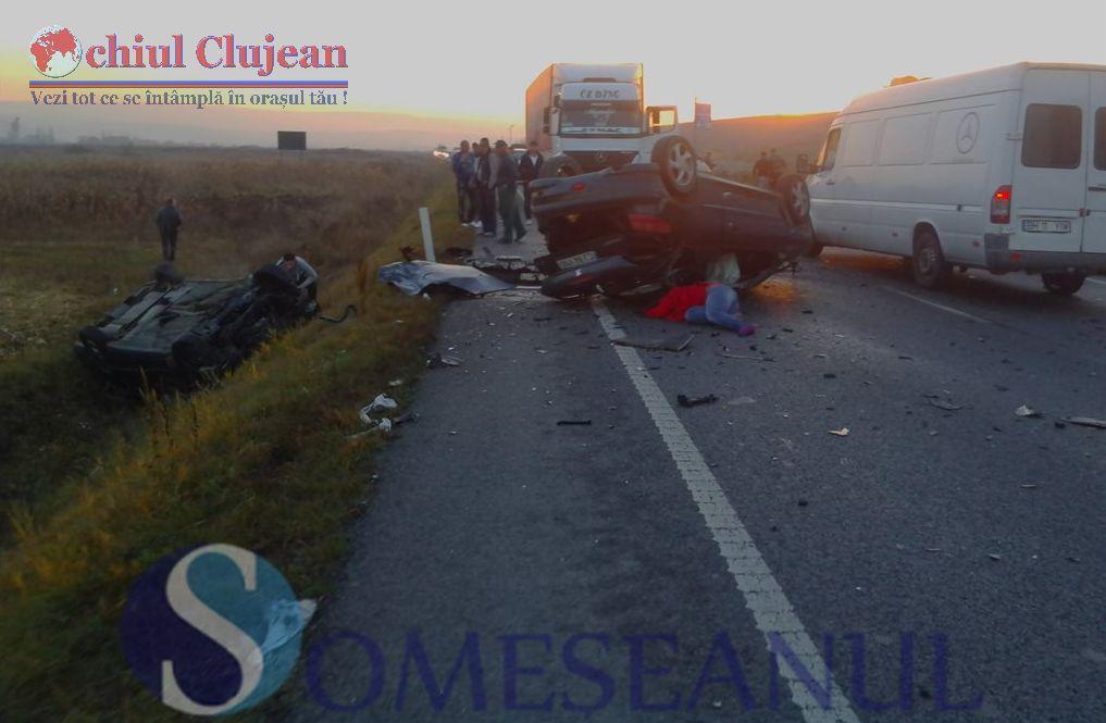 Accident mortal pe centura Apahida-Valcele! Doua persoane au murit UPDATE FOTO