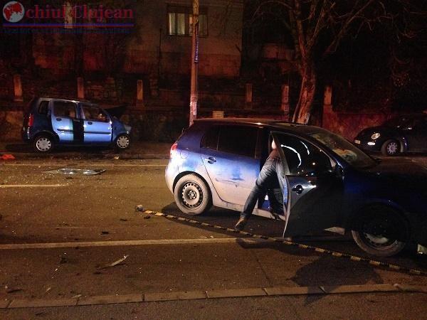 Sofer rupt de beat la volan retinut pentru 24 de ore de politistii clujeni.  A cauzat un accident grav in Grigorescu FOTO