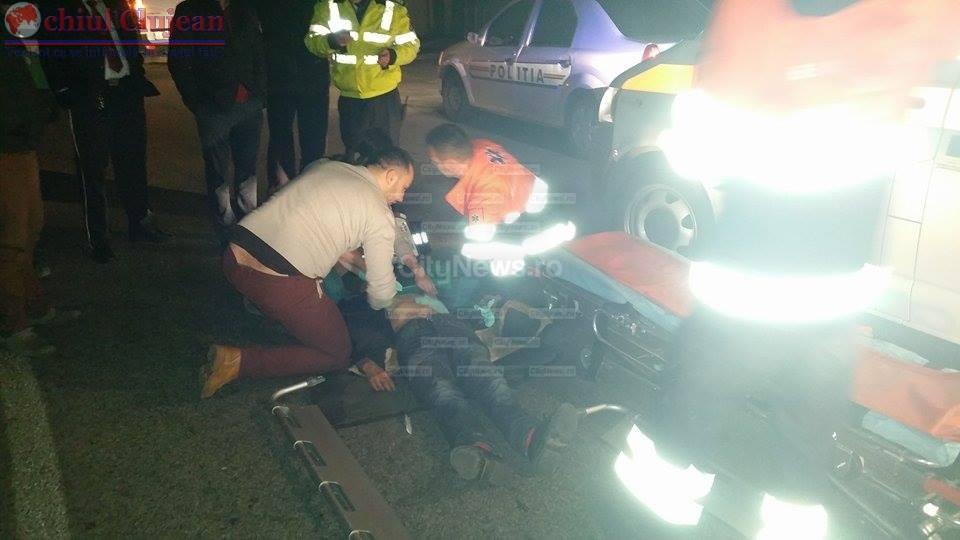 Accident la intrare in Cluj-Napoca! Un barbat a ajuns la spital dupa ce a fost lovit de o masina de gunoi in timp ce traversa prin loc nepermis FOTO