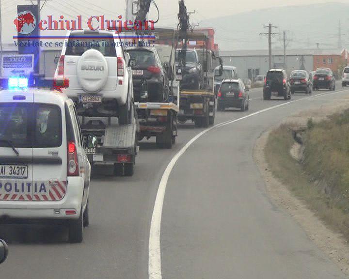 34 de autoturisme au fost indisponibilizate si 17 persoane retinute 24 de ore in urma perchezitiilor din Cluj, Alba si Prahova FOTO