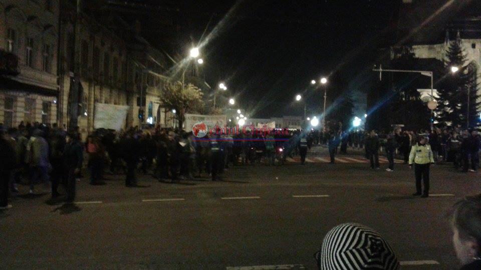 Protest la Cluj fata de legea securitatii cibernetice