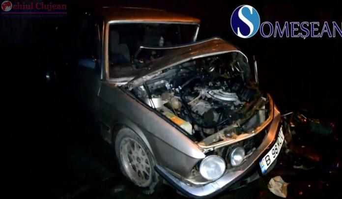 Accident cu doua victime la Bontida. Impact violent intre un autocar, doua autoturisme si un TIR VIDEO