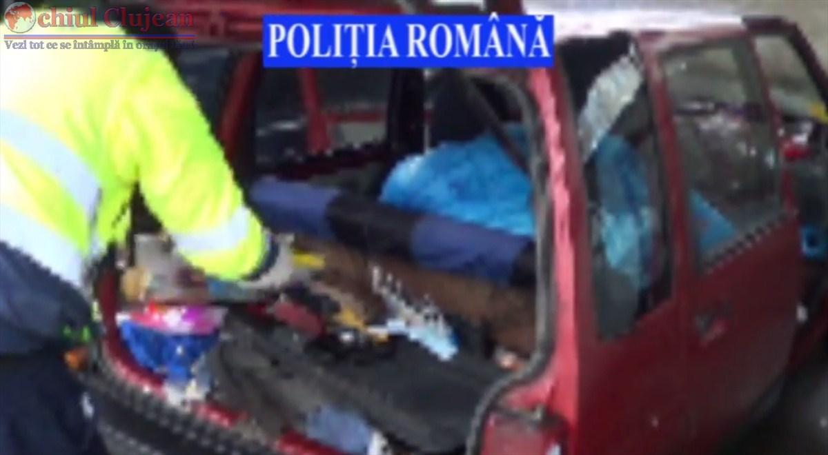 Doi hoti din Constanta prinsi la furat din benzinarii de politistii clujeni VIDEO