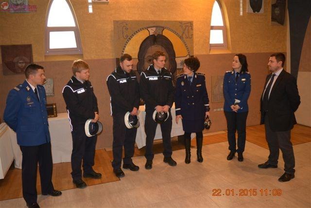 Delegatie germana in vizita la Jandarmeria Cluj FOTO