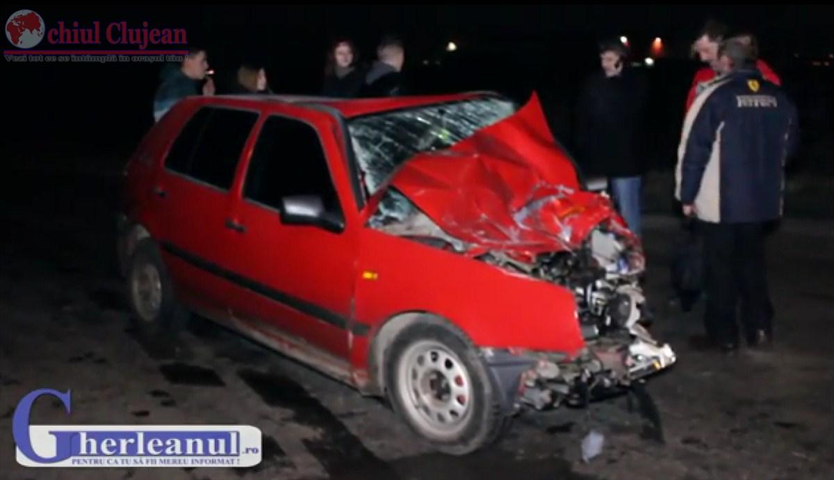 Accident intre Rascruci si Jucu! Impact violent intre un autocar si un autoturism UPDATE VIDEO