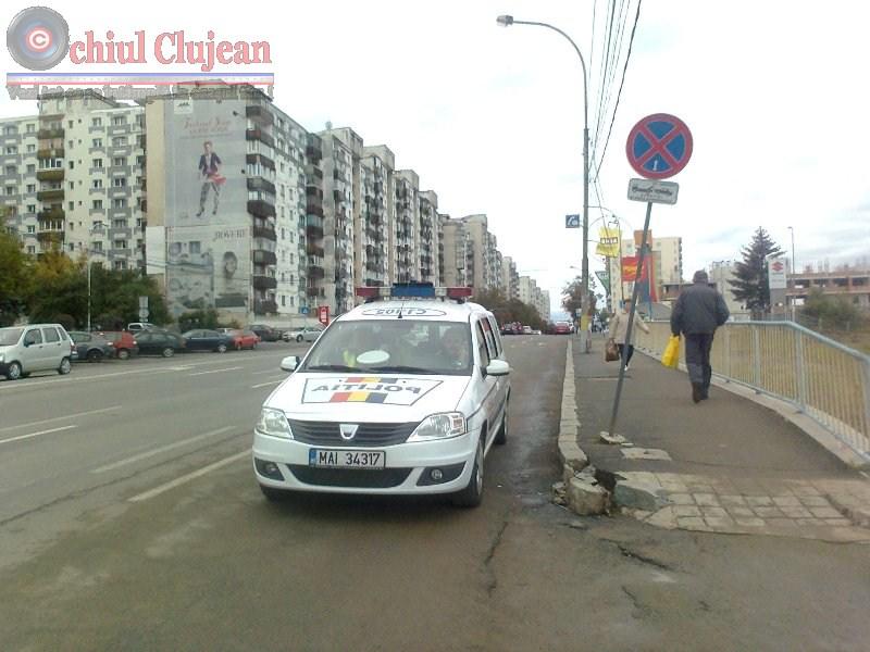 Acțiune a polițiștilor rutieri clujeni pentru prevenirea accidentelor rutiere