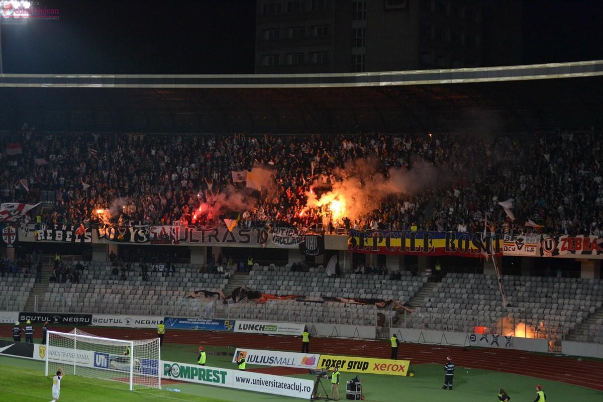 """Măsuri de ordine publică la meciul de fotbal dintre ,,F.C. Universitatea Cluj"""" şi ,,ASA Târgu-Mureş"""""""