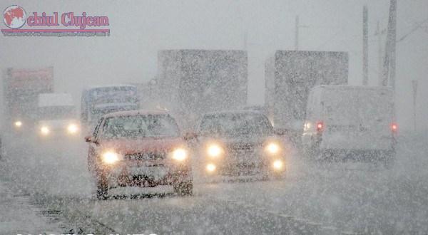 Situatia drumurilor in judetul Cluj, dupa prima ninsoare