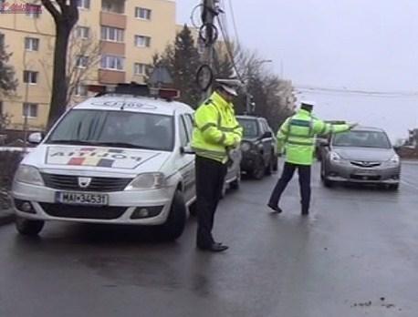 Acțiuni a polițiștilor pentru prevenirea accidentelor rutiere