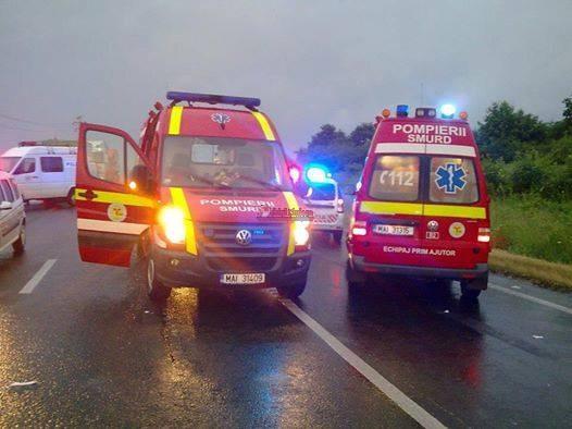 Accident GRAV pe un drum din Cluj! Patru persoane au fost rănite