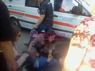 Accident pe Dorobanților! Un minor de 14 ani a fost lovit de mașină