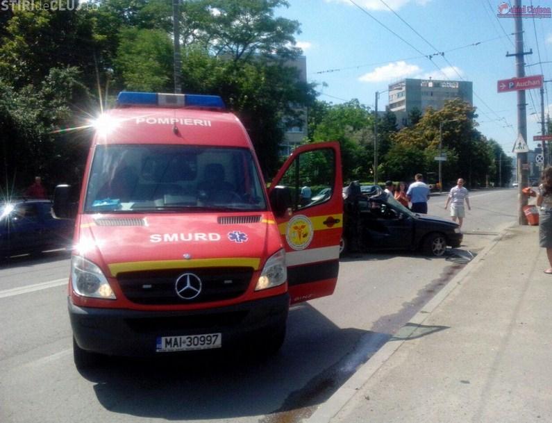 Accident în Cluj-Napoca! S-a răsturnat la 200 de km/h FOTO